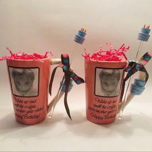 Mud Pie Birthday Mugs w/Stir Sticks